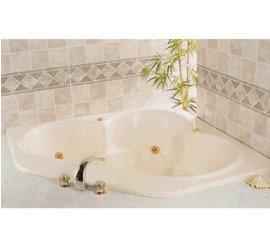 三角型按摩浴缸銀金6噴頭