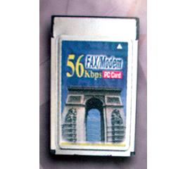 56 Kbps Fax/Modem PC Card