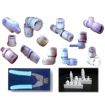 The new type of flaring shape of tube fittings