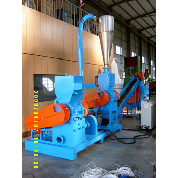 Whole plant equipment of plastic waste recycling
