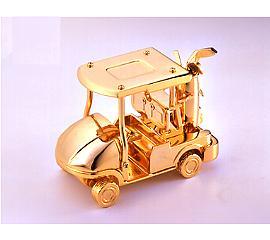 The Gold Golf Car