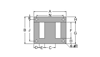 變壓器鐵芯 EI-4H