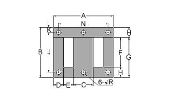 變壓器鐵芯 EI-6H