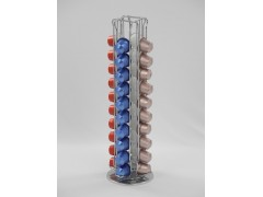 Rotating Coffee Capsules Rack With 40 Nespresso Rotating function, For 40 capsules