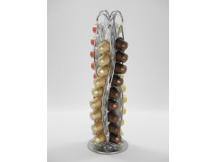 Rotating Coffee Capsules Stand For 40 PCS Nespresso Rotating function, S shaped