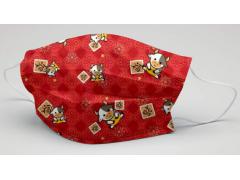 新年系列口罩 福氣牛] -萬洲通-三層防護口罩  台灣製造 美國FDA歐盟CE雙認證 外銷口罩 / 成人50入一盒