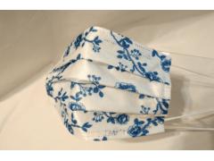 [花漾年華系列 青花瓷]萬州通-三層防護口罩  台灣製造 美國FDA歐盟CE雙認證 外銷口罩 / 成人50入一盒