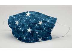 [造型穿搭 藍星星]萬州通-三層防護口罩  台灣製造 美國FDA歐盟CE雙認證 外銷口罩 / 成人50入一盒