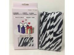 Moor時尚印花口罩禮盒10片入-時尚斑馬紋