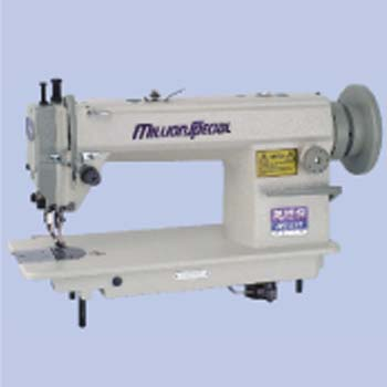 SINGLE NEEDLE, UPPER AND LOWER FEED LOCKSTITCH SEWING MACHINE WITH LARGE HOOK AND AUTOMATIC LUBRICAT