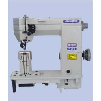 DOUBLE NEEDLE DRIVEN ROLLER POST-BED LOCKSTITCH SEWING MACHINE