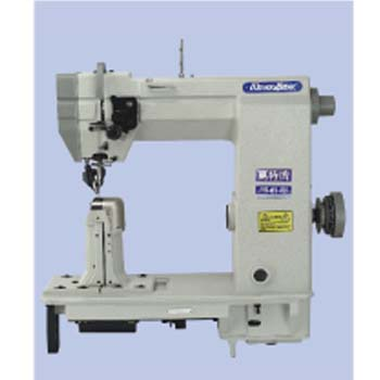 SINGLE NEEDLE DRIVEN ROLLER POST-BED LOCKSTITCH SEWING MACHINE