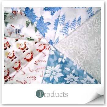 Christmas Fabrics - White X'mas