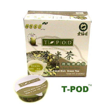 (100% Natural, Sprouted Grain Brown Rice Green Tea)