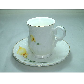 Bone China---Cup and Saucer