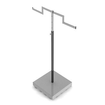 立地式雙梯型可調高低衣架