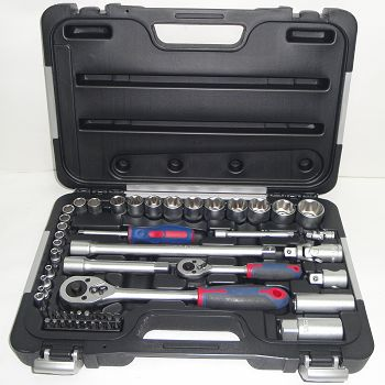 "54 piece 1/4"" and 1/2"" Drive Socket Set - Metric"