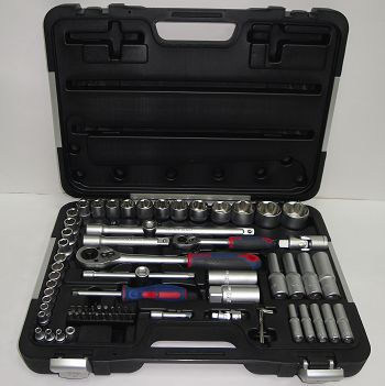 "75 piece 1/4"" and 1/2"" Drive Socket Set - Metric"