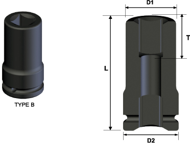 Budd Wheel Impact Socket, 4 - point