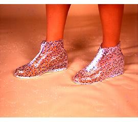 淑女用平底型防雨鞋套