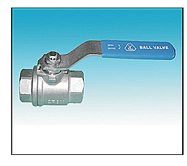 Two-Piece Full Port Screwed Ends Ball Valve 1000PSI.