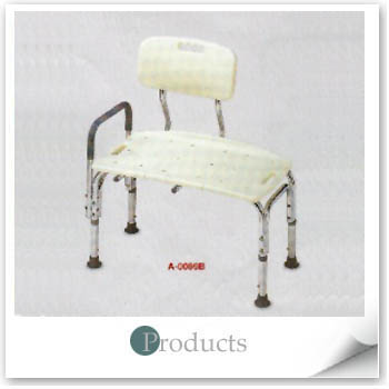 ALUM. BATH TRANSFER BENCH W/BACK