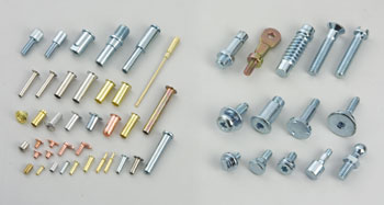 Hollow rivets & multi-stage screws & parts
