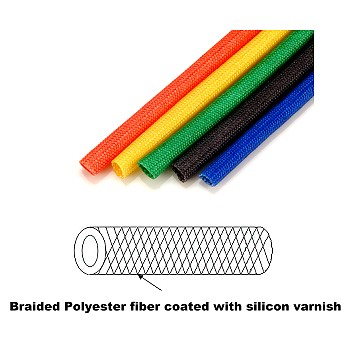Polyester Fiber Sleeving Coated with Silicon Varnish
