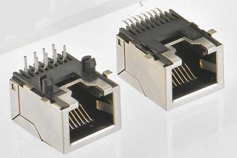 8POSITION, SHIELDED SMT LOW PROFILE ,SIDE ENTRY, PCB JACK