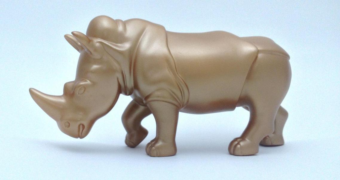 Uniquie rhino figurine