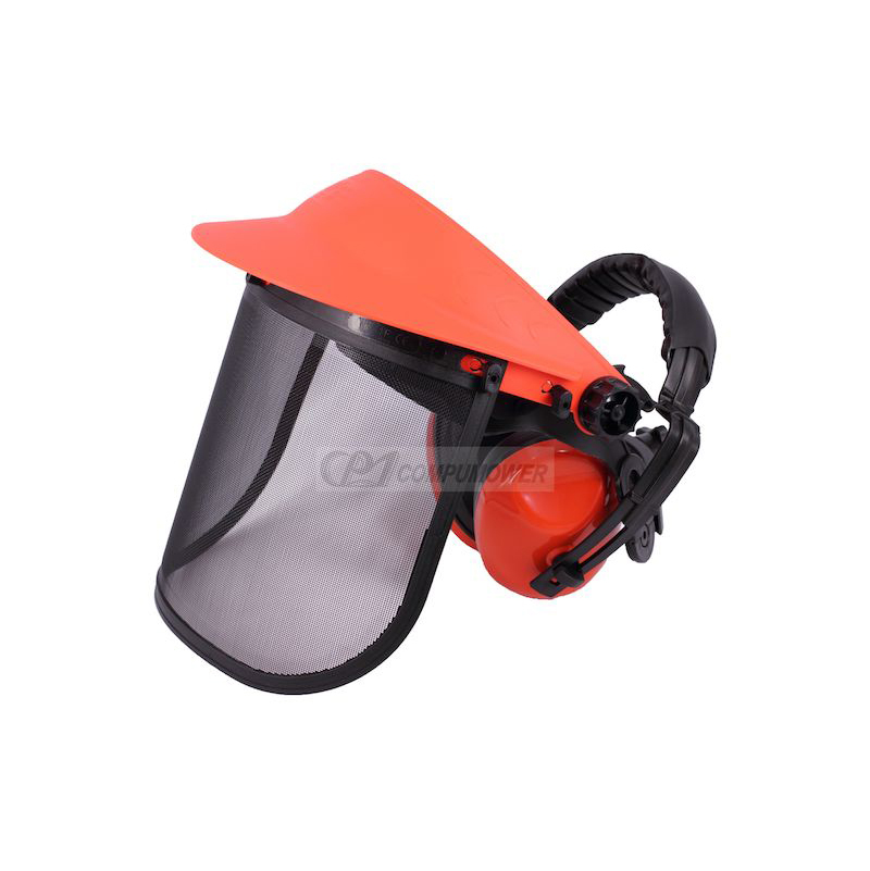 WIRE MESH FACE PROTECTOR / EAR MUFF COMBINATION SET