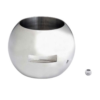 Stainless steel ball and stem