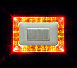 面板夜燈 - 星鑽 黃+橘