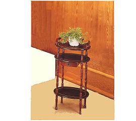 3-TIER OVAL TELEPHONE TABLE