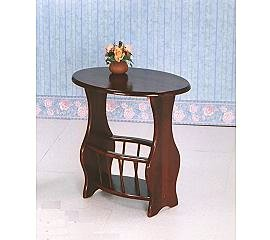 OVAL MAGAZINE TABLE